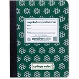 """Roaring Spring Environotes Recycled Composition Book - 80 Sheets - Printed - Sewn/Tapebound 9.75"""" x  ROA77284"""