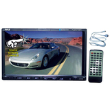 "Pyle PLDN74BTI Car DVD Player - 7"" Touchscreen LCD - 16:9 - 320 W RMS - Double DIN - 4 - DVD Video, Video CD, MPEG-4 - AM, FM - Secure Digital (SD), MultiMediaCard (MMC) - Bluetooth - USB - 1 x USB - 1440 x 234 - iPod/iPhone Compatible - In-dash"