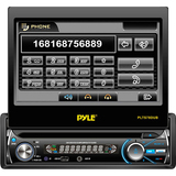 "Pyle PLTS78DUB Car DVD Player - 7"" Touchscreen LCD - Single DIN - DVD Video, MPEG-4, Video CD - AM, FM - Secure Digital (SD), MultiMediaCard (MMC) - Bluetooth - Auxiliary Input1440 x 234 - In-dash"