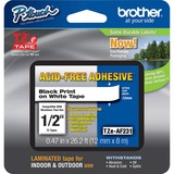 Brother TZE-AF231 Black on White Adhesive Tape