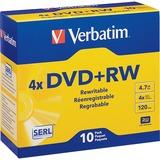 Verbatim DataLifePlus 94839 DVD Rewritable Media - DVD+RW - 4x - 4.70 GB - 10 Pack Slim Case