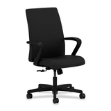 HON Ignition HIWM1 Mid Back Management Chair with Fixed Arm - Fabric Black Seat - Black Frame - 5-st HONIW099CU10