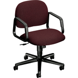 HON Solutions Seating H4002 Mid-Back Management Chair with Loop Arms - Fabric Espresso Seat - Polyme HON4002CU49T