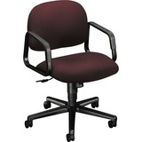 HON Solutions Seating H4002 Mid-Back Management Chair with Loop Arms - Vinyl Wine Seat - Polymer Bac HON4002NT69T