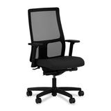 "HON Ignition HIWM3 Mid Back Management Chair - Fabric Black Seat - Black Frame - 5-star Base - 20"" S HONIW108CU10"