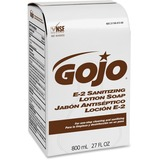 Gojo E-2 Sanitizing Lotion Soap - 27.1 fl oz (800 mL) - Hand - Amber - Fragrance-free - 12 Each GOJ913212