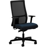 HON Ignition HIWM2 Work Mid Back Management Chair with Arms - Vinyl Mariner Seat - Black Frame - 5-s HONIW103NT90