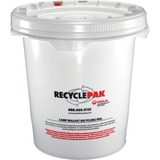 RecyclePak Ballast Recycling Pail - 66 lb - 5 gal - White, Red - For Lamp Recycling - 1 Each SPDSUPPLY040