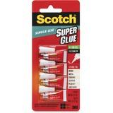 MMMAD119 - Scotch® Super Glue Gel, 4-Pack of single-u...