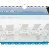 "Day-Timer Coastlines Calendar - Monthly - 1 Year - January 2017 till December 2017 - 11"" x 8.50"" - W DTM11352"