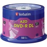 VER97000 - Verbatim DVD+R DL 8.5GB 8X with Branded Surface...