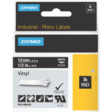 Dymo White on Black Color Coded Label