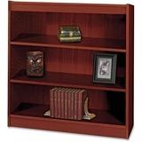 "Safco Square-Edge Bookcase - 36"" x 12"" x 36.8"" - 3 x Shelf(ves) - 300 lb Load Capacity - Mahogany -  SAF1502MHC"