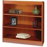 "Safco Square-Edge Bookcase - 36"" x 12"" x 36.8"" - 3 x Shelf(ves) - 300 lb Load Capacity - Cherry - Ve SAF1502CYC"