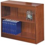 "Safco Square-Edge Bookcase - 36"" x 12"" x 30"" - 2 x Shelf(ves) - 200 lb Load Capacity - Cherry - Vene SAF1501CYC"
