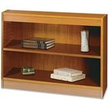 "Safco Square-Edge Bookcase - 36"" x 12"" x 30"" - 2 x Shelf(ves) - 200 lb Load Capacity - Medium Oak -  SAF1501MOC"