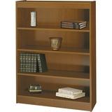 "Safco Square-Edge Bookcase - 36"" x 12"" x 48"" - 4 x Shelf(ves) - 400 lb Load Capacity - Medium Oak -  SAF1503MOC"