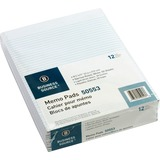 "Business Source Memorandum Pad - 50 Sheets - Printed - Glue - 16 lb Basis Weight - Letter 8.50"" x 11 BSN50553"