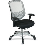 Office Star Space 829 Series Duragrid Back/Padded Mesh Seat Chair - White Seat - 5-star Base - White OSP8293R1C628P