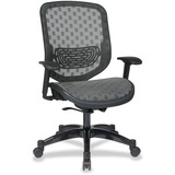 Office Star Space 829 Series Duragrid Seat/Back Chair - Charcoal Seat - 5-star Base - Charcoal Black OSP829R22C728P