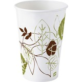 Dixie Pathways WiseSize Cup - 12 oz - 50 / Pack - White - Poly Paper - Cold Drink DXE12FPWSPK