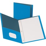 BSN78507 - Business Source Storage Pockets Fastener Folder...