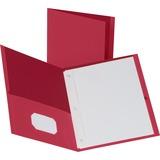 BSN78510 - Business Source Storage Pockets Fastener Folder...