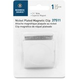 """Business Source Magnetic Paper Clip - 1.8"""" Length - 1 Pack - Chrome - Metal, Nickel Plated BSN37511"""