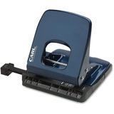 """CARL Colorful 2-Hole Punches - 2 Punch Head(s) - 32 Sheet Capacity - 1/4"""" Punch Size - Blue CUI62030"""