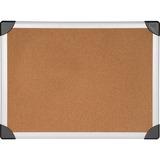 """Lorell Cork Board - 48"""" Height x 72"""" Width - Cork Surface - Aluminum Frame - 1 Each LLR19193"""