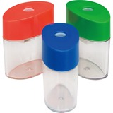 Integra Oval Pencil Sharpener - Handheld - 1 Hole(s) - Plastic - Assorted ITA42850