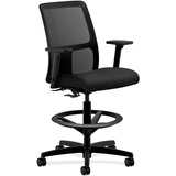 HON® Ignition Series Mesh Low-Back Task Stool, Black Fabric Upholstered Seat HONIT108NT10