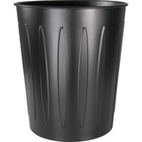 "Genuine Joe Fire Safe Trash Can - 6 gal Capacity - 14"" Height x 13"" Depth - Metal, Steel - Black GJO58897"