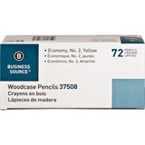 Business Source Woodcase Pencil - #2 Lead Degree (Hardness) - Yellow Wood Barrel - 72 / Box BSN37508