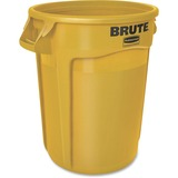 Rubbermaid Commercial Brute Round Container - 32 gal Capacity - Round - Heavy Duty, Handle, Tear Res RCP263200YEL