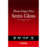 Canon Photo Paper Plus SG-201 Inkjet Print Photo Paper - 0% Recycled