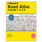 MapArt Publishing 2012 Canada-USA Atlas Travel Printed Manual