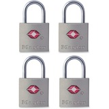 Master Lock 7/8in (22mm) Wide Solid Metal TSA-Accepted Luggage Lock; 4 Pack