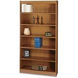 "Safco Square-Edge Bookcase - 36"" x 12"" x 72"" - 6 x Shelf(ves) - 600 lb Load Capacity - Medium Oak -  SAF1505MOC"