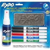 Expo Dry Erase Marker - Fine Point Type - Red, Blue, Green, Black - 4 / Set SAN80675