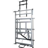 Balt Elevation Wall Mount for Whiteboard, Cart, Projector - 125 lb Load Capacity - Platinum BLT27589