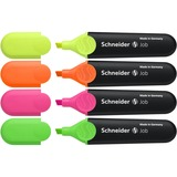 Schneider Job Highlighters - 5 mm Point Size - Chisel Point Style - Yellow, Orange, Pink, Green - Po STW01500