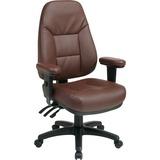 Office Star High-Back Eco-leather Chair - Leather Burgundy Seat - Black Frame - 5-star Base - Burgun OSPEC4300EC4
