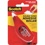 Scotch Double-Sided Adhesive Roller - Dispenser Included - Handheld Dispenser - 1 / Pack - Clear MMM6061