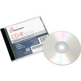 SKILCRAFT CD Recordable Media - CD-R - 52x - 700 MB - 1 Pack Jewel Case - 120mm - Printable - Therma NSN4445160