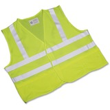SKILCRAFT High-visibility Safety Vest - Large Size - Polyester Mesh - Yellow, Lime - 1 Each NSN5984868
