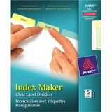 Avery Index Maker Clear Label Dividers 11994, 5-Tab Set
