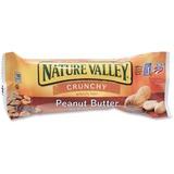 NATURE VALLEY Crunchy Granola Bars - Peanut Butter, Crunch - 1 Serving Pouch - 1.50 oz - 18 / Box GNMSN3355