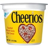 Cheerios Cereal-in-a-Cup - Original - 1 Serving Cup - 1.30 oz - 6 / Pack GNMSN13896