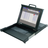 "Minicom by Tripp Lite SmartRack 116 IP - 16-Port Remote Access Console Cat5 KVM with 17"" LCD"